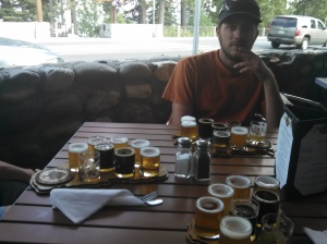 Dinner is served. All 6 courses. (Tahoe City brewing co)