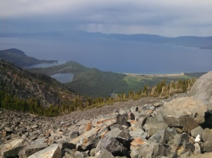 View from the summit of Tallac Mt.